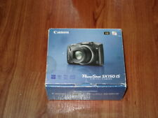 Open Box - Canon PowerShot SX150 IS 14.1 MP Camera - BLACK - 013803140538