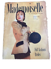 Vintage 1946 SEPTEMBER MADEMOISELLE MAGAZINE - FALL FASHIONS - BRIDES Excellent