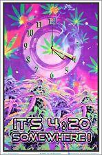 It's 420 Somewhere Blacklight Poster 23 X 35