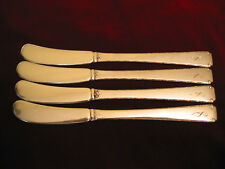Towle Old Lace Sterling Silver Butter Spreader Set of 4 Mono Flatware 110 grams