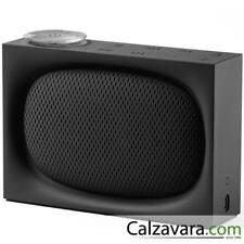 LEXON Ona Radio FM con Speaker Bluetooth - Ricaricabile - Nero Black