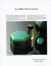 Publicité Advertising 038  1978   coffret Vetiver  eau toilette savon Lanvin