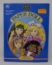 1988 Mattel Hot Looks (mimi Stacy Paper Dolls Golden Book Uncut
