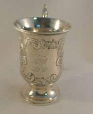 """Decorated Large Coin Silver Pedestal Cup-4 1/2"""""""