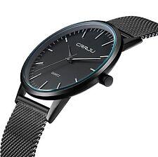 Tammle Men's Super Slim Fashion Casual Quartz Wristwatch Business Mesh Steel Ana