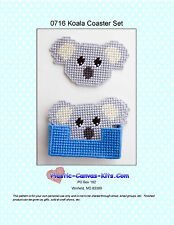 Koala Bear Coaster Set-Plastic Canvas Pattern or Kit