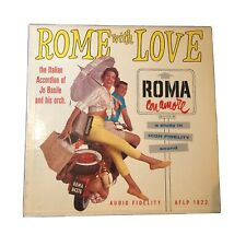 Vintage 1957 Jo Basile and His Orch. Rome With Love Roma Con Amore Vinyl Record