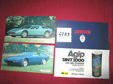 N°4783  /  MASERATI  Khamsin et Merak : pochette english text  italiano testo