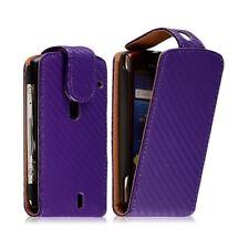 Housse coque étui pour Sony Ericsson Xperia Kyno motif gaufré couleur violet + f