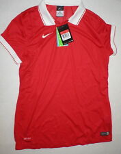 df805231 NWT Womens Nike $70 Red White Top New Run Dri Fit L Laser Soccer Jersey Mesh