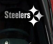 "Pittsburgh Steelers Chrome 10"" Vinyl Car Truck DECAL Window STICKER"