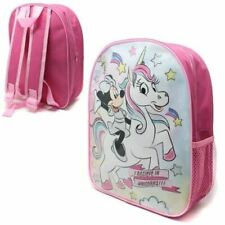 Disney Minnie Mouse Childrens Backpack Rucksack Luggage School Travel Bag 98469t