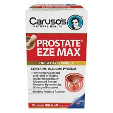 * CARUSO'S PROSTATE EZE MAX 90 CAPSULES 15000MG PYGEUM ONE A DAY