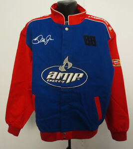 AMP ENERGY LARGE COTTON TWILL JACKET NASCAR DALE EARNHARDT JR AMP RACING DRINK