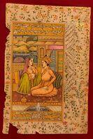 Finest Mogul Persian Traditional Pahari Miniature Painting Fine Udaipur Art Work