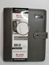 New At A Glance Faux Leather Starter Planner 7 Ring Binder 55x85 My Week