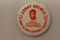 Larry Holmes Boxing World Heavyweight Championship Pinback Button