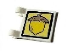 LEGO SpongeBob - White Flag 2 x 2 Square with Acorn Pattern (Sticker)