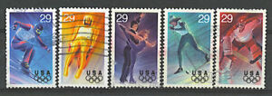 Scott #2807-11 Used Set of 5, Winter Olympics