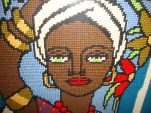 South American Brazilian Stitched Needlepoint Art