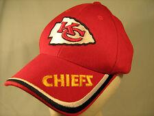 [G9] Ball Cap KC CHIEFS Kansas City NFL Velcro Adjust
