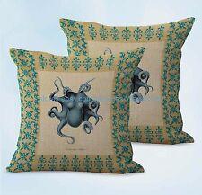 US SELLER, 2pcs home decoration make Sea animals octopus vintage cushion cover
