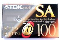 TDK SA 100 HIGH BIAS TYPE II BLANK AUDIO CASSETTE - 1992
