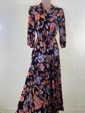 BNWOT NEXT beautiful floral oriental print belted midi shirt dress size 6 eu 34