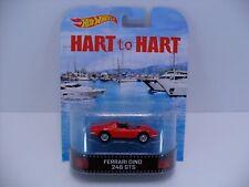2013 Hot Wheels Retro Hart to Hart Red Ferrari Dino 246 GTS w/ Real Riders