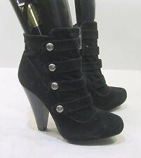 "BLACKS 4.5""block HIGH heel 1"" PLATFORM round toe sexy ankle boot Size 10"