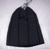 35c7163b1ca MENS JF FERRAR BLACK   CHARCOAL BEANIE CAP WINTER HAT NEW WITH TAGS MSRP 18