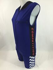 90s Vtg Nautica Competition Workout Outfit Spandex Shorts Sleeveless Jacket Sz M