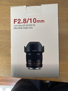 SAMYANG 10mm F2.8 ED AS NCS CS Lens for Sony Alpha Japan Ver. New