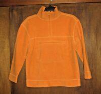 EUC ARIZONA Jeans BOYS 10 12 Medium M orange pullover fleece sweatshirt jacket