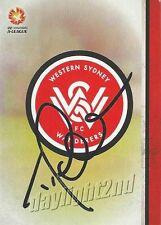 ✺Signed✺ 2015 2016 WESTERN SYDNEY WANDERERS A-League Card TONY POPOVIC