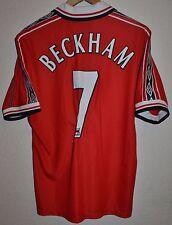 MANCHESTER UNITED 1998/1999/2000 TREBLE HOME FOOTBALL SHIRT UMBRO #7 BECKHAM