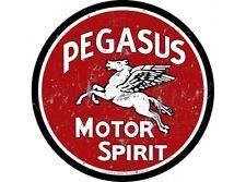 NEW Pegasus Motor Spirit large round tin metal sign