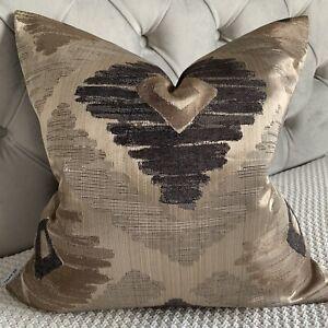 "iLiv Fabric Cushion Cover 18"" x 18"" Bronze, Charcoal Decor Handmade"