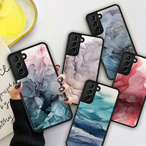 OMBRE MARBLE Grey Texture Phone Hard Case Cover For Samsung S20 S21 Plus Ultra