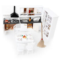 1/12 Dollhouse Miniature Luxury Cabinet Mop Kit Kitchen Dining Room Decor