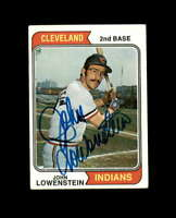 John Lowenstein Signed 1974 Topps Cleveland Indians Autograph