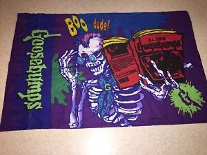 Goosebumps Twin Sheet Set Flat/Fitted Pillowcase 90's Purple RL Stine 3 Pc Set