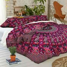 Mandala Cotton Handmade Duvet Cover Hippie Boho Throw Quilt Cover With Pillow