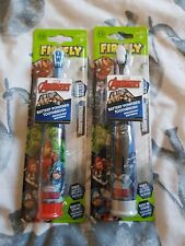 Kids Toothbrush x2 marval Battery Operated 6+ Firefly
