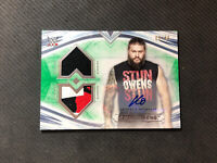 2020 TOPPS WWE UNDISPUTED KEVIN OWENS DUAL MAT SHIRT RELIC AUTO BLUE #ed 9/50