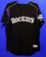 COLORADO ROCKIES RONNIE BELLIARD Black #10 MLB BATTING PRACTICE Size 48 JERSEY