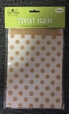 Treat Bags 25 Per Pkg. Dot Design On Natural Kraft Paper. Nicole