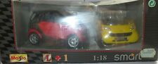 A MAISTO SPECIAL EDITION SMART FORTWO 1+1 ROUGE & JAUNE REF 31852 IN BOX