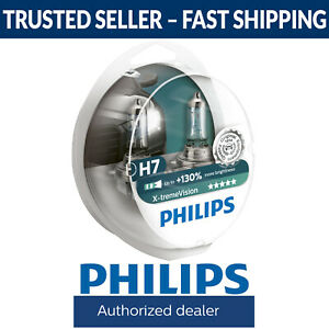 Philips X-tremeVision Xtreme Vision +130% More Light H7 Headlight Globes (Twin)