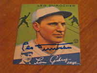 Leo Durocher Autographed Baseball Card JSA Auction Cert
